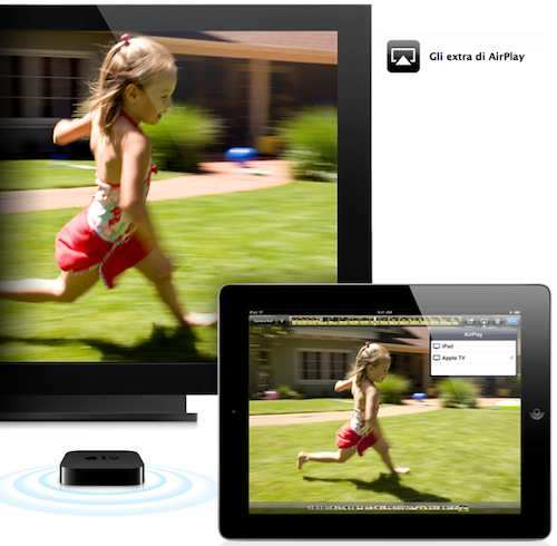 airplay su iPad e iPad 2