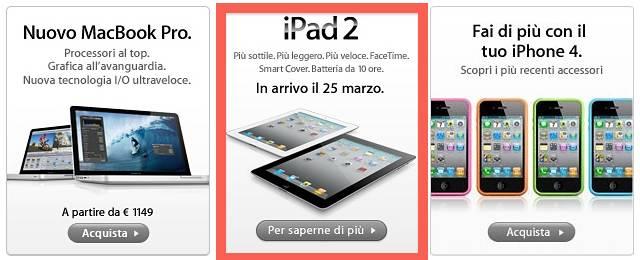 iPad 2 apple italia