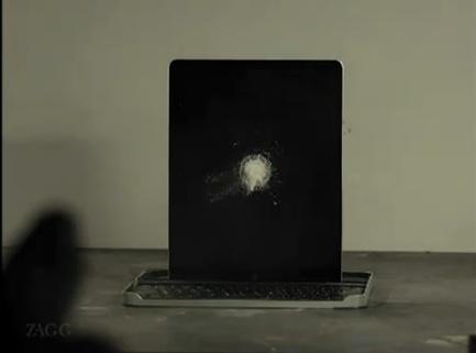 video ipad 2 colpito da un fucile