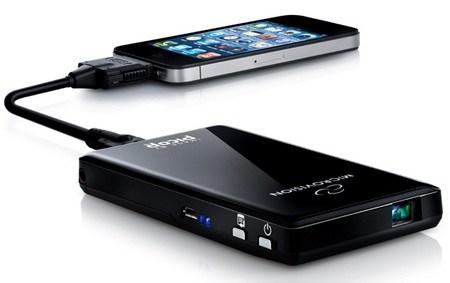 iphone 4 proiettore
