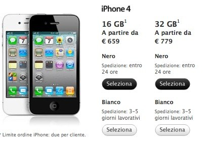 shop iphone 4 bianco