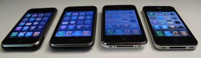 4 modelli iphone