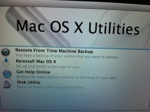 OS X Lion disco di ripristino