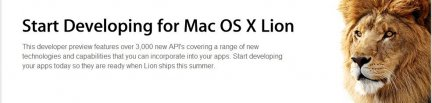 os x lion developer