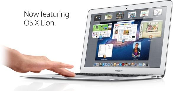 macbook air 2011 os x lion