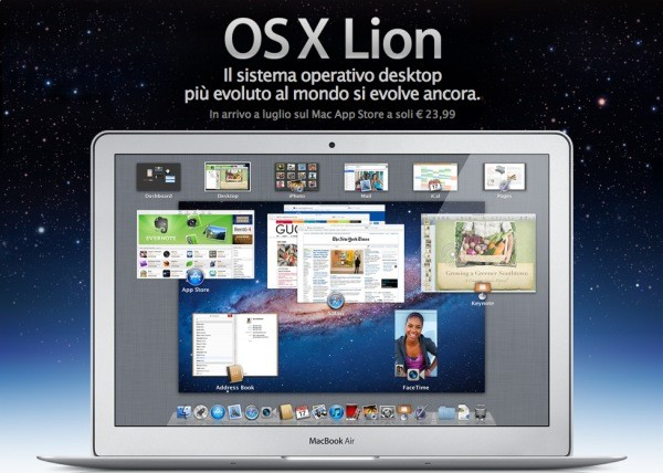 OS X Lion on macbook air