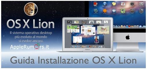 guida installazione OS X Lion