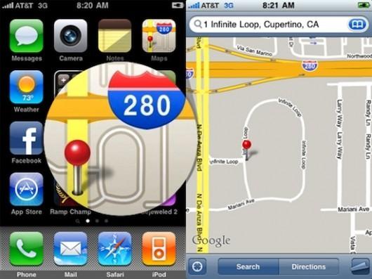 icona google maps iphone