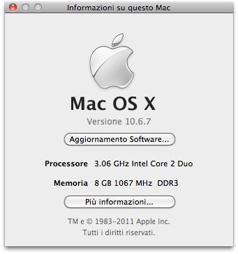 informazioni Mac