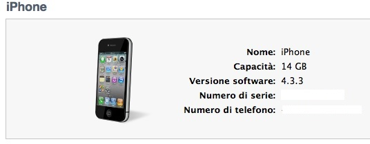 iPhone 4 su itunes