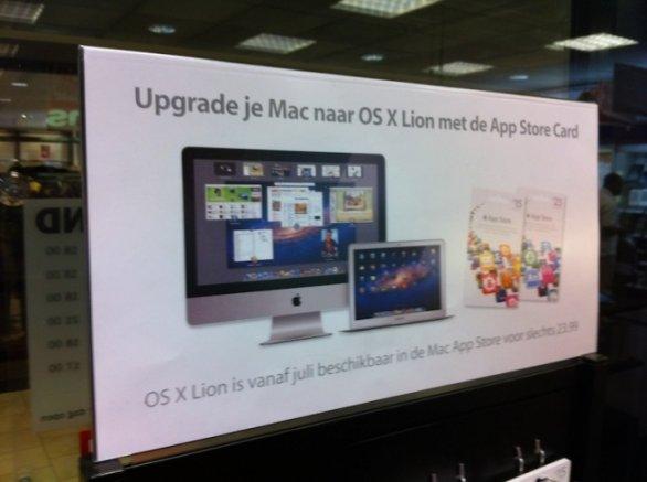 banner pubblicitario USA OS Lion