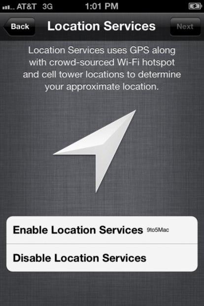 privacy GPS iOS 5 beta 3
