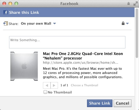 facebook in apple store