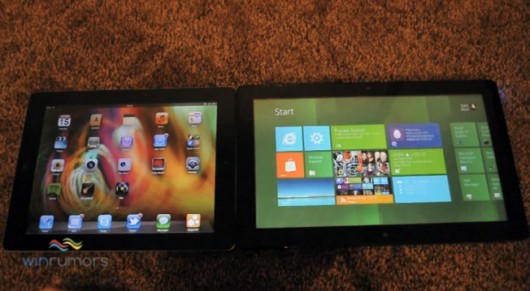 ipad 2 vs windows 8