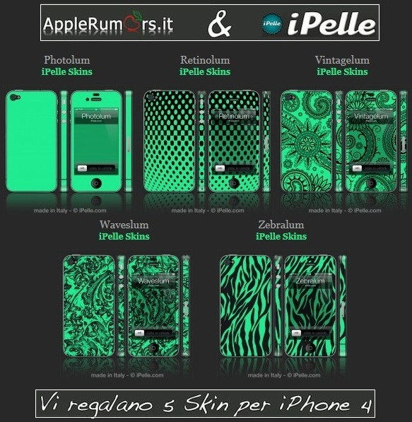 skin fosforescenti iphone 4