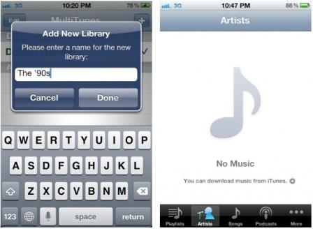 MultiTunes App iPhone