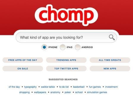 chomp ricerca applicazioni
