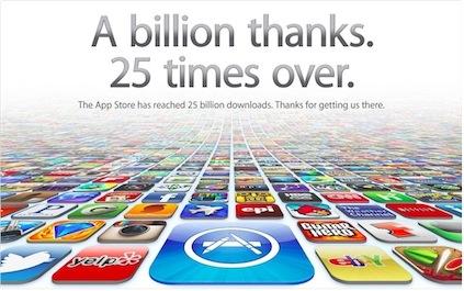 App store 25 milioni di download