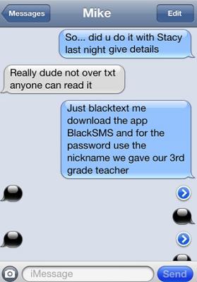 black sms iphone