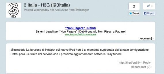 Comunicato 3 Italia