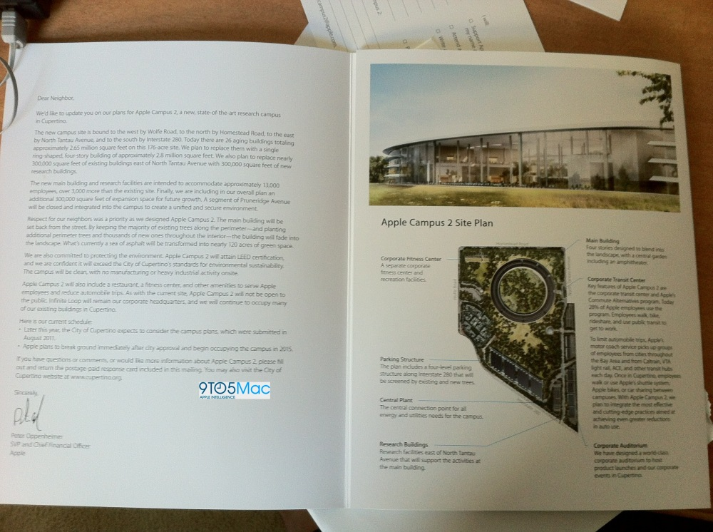 brochure campus apple a cupertino