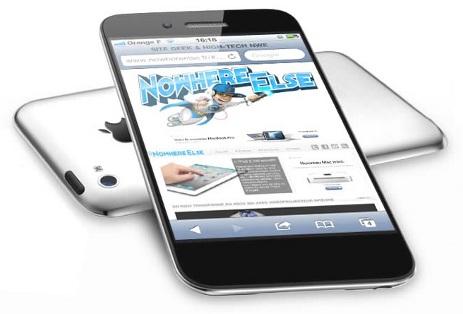 schermo dell'iphone 5 da 4 pollici