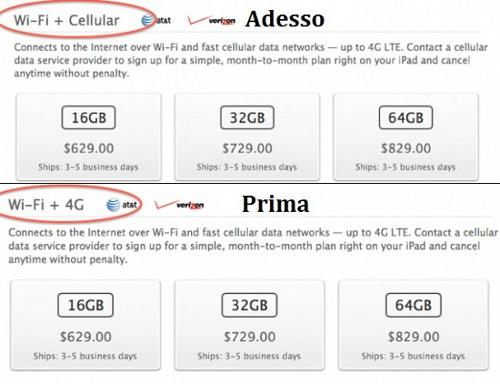 modifica descrizione iPad 4G Apple