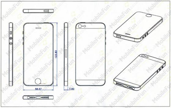 progetti disegni dell'iphone 5