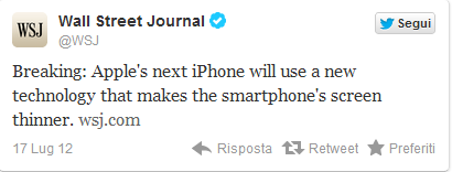 iphone 5 sottile