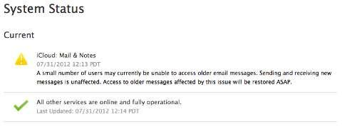 errore icloud mail apple
