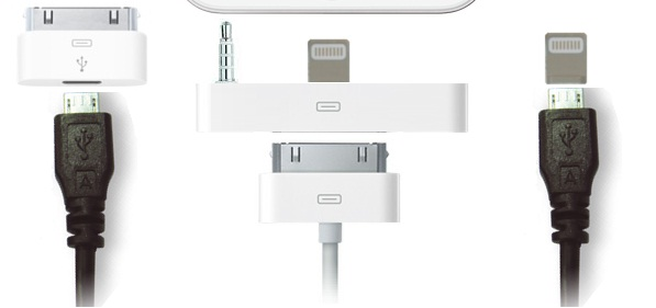 iphone 5 adattatore micro usb