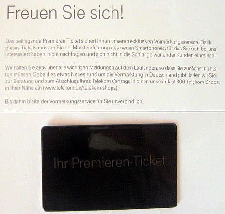 biglietto preordine iphone 5