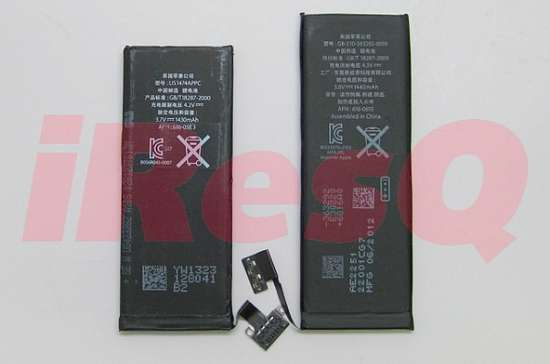 confronto batteria iphone 5 4s