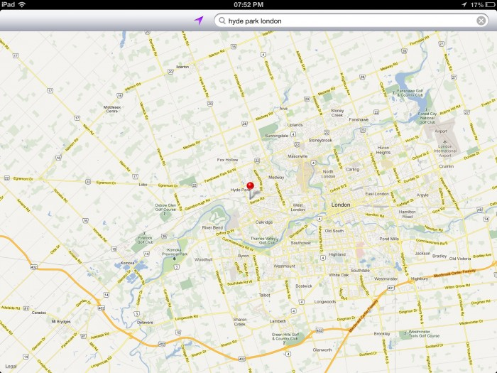 iOS 6 Google Maps