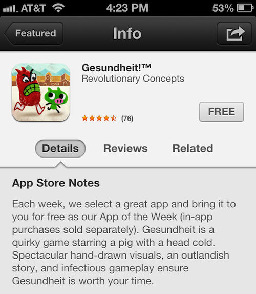 App Store Notes