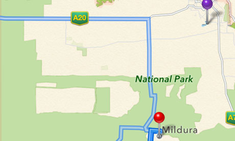 Apple maps Mildura