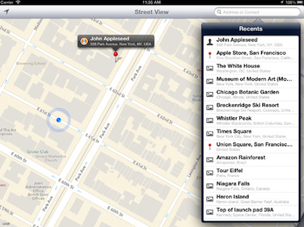 Street View Apple Maps
