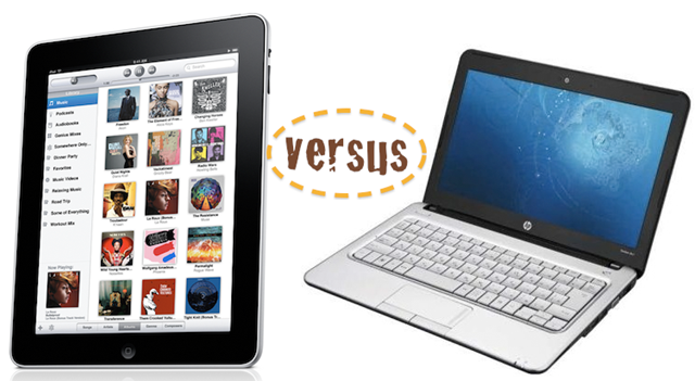 iPad vs pc notebook