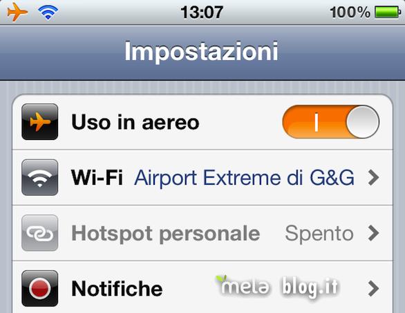 Wi-Fi aereo iPhone
