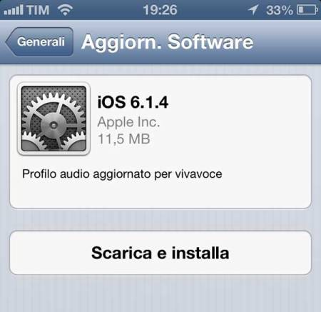 update iPhone 5