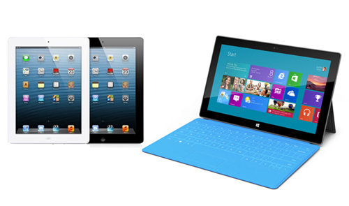 iPad 4 vs Surface