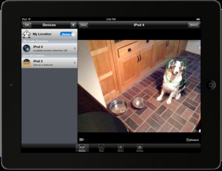 Presence iPhone telecamera WIFI