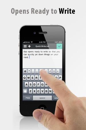write gratis iPhone