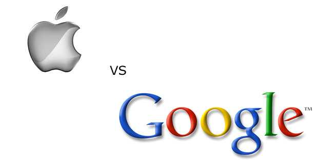 Apple vs Google logo