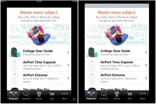 iOs 7 visualizzazione iPad