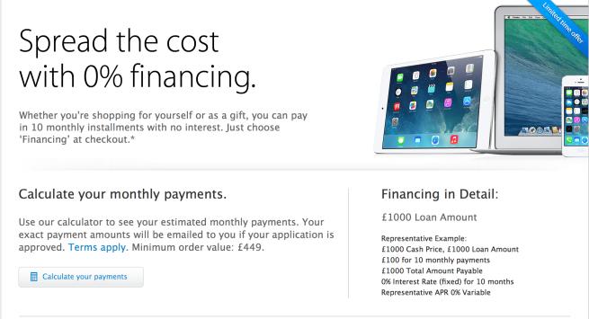 finanziamento Apple