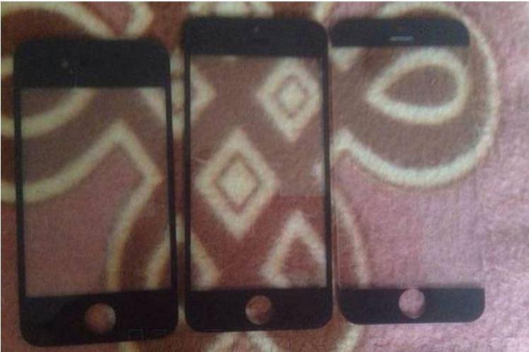 confronto tra i pannelli frontali di iPhone 5S e il nuovo iPhone 6