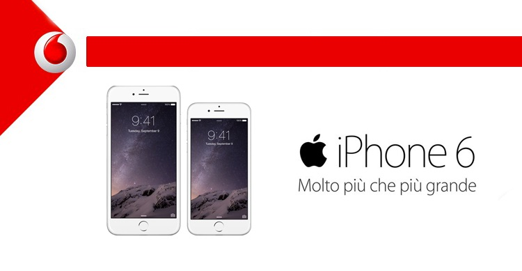 vodafone offerte per iphone 6