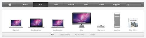 Nuova grafica sito Apple