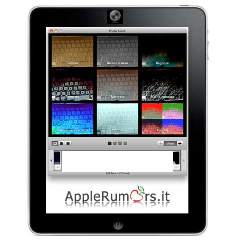 iPad 2 con Photo Booth